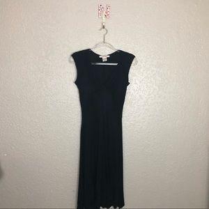 EUC Free People black rayon Fit & Flare slip dress